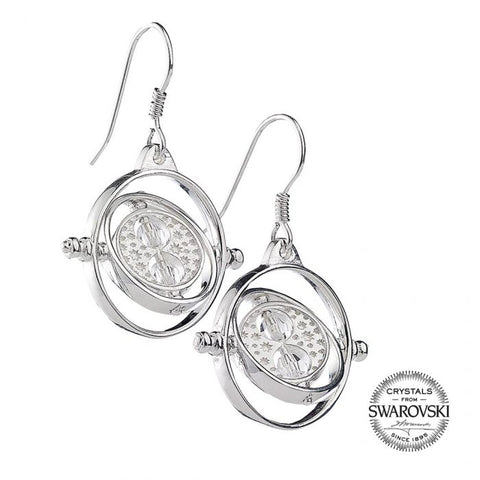 Harry Potter Time Turner Sterling Silver Earrings with Swarovski Crystals