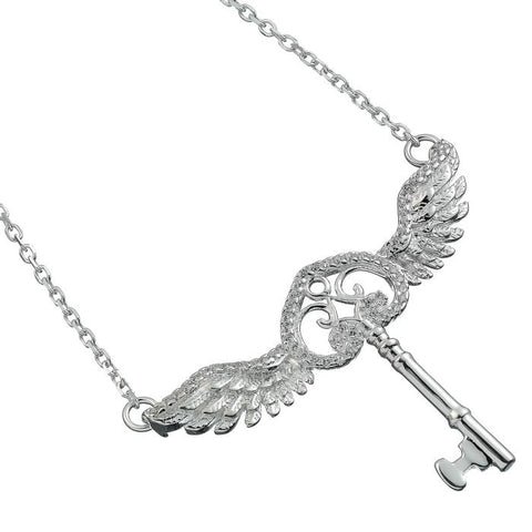 Harry Potter Flying Key with Swarovski Crystals Necklace