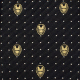Iron Man Dot Print Silk Tie