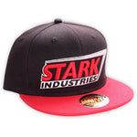 Stark Industries Black and Red Snapback Cap