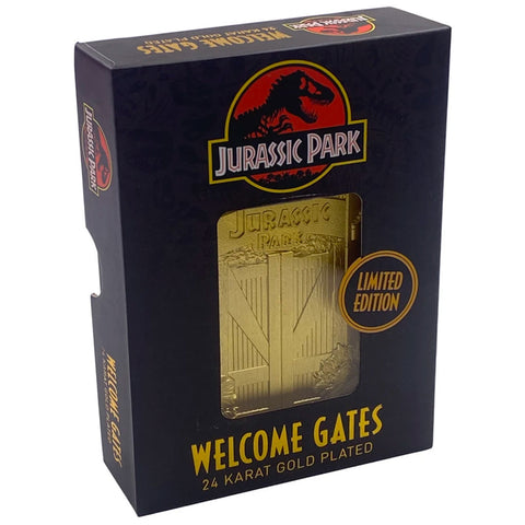 Jurassic Park Welcome Gates 24k Gold Plated Collectible Card