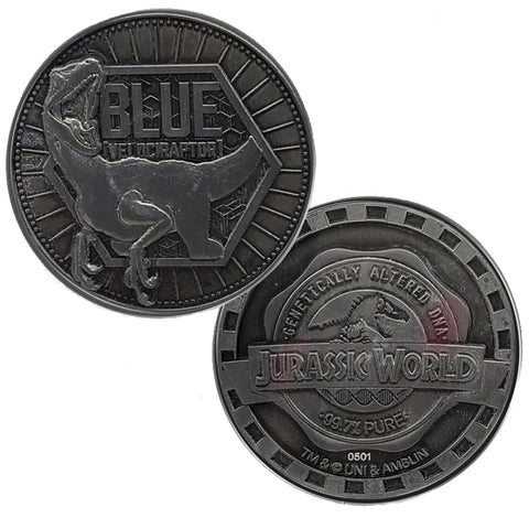 Jurassic World Blue Velociraptor Limited Edition Collectors Coin