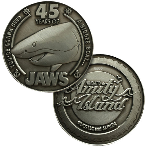 Jaws 45th Anniversary Limited Edition Collectors Coin
