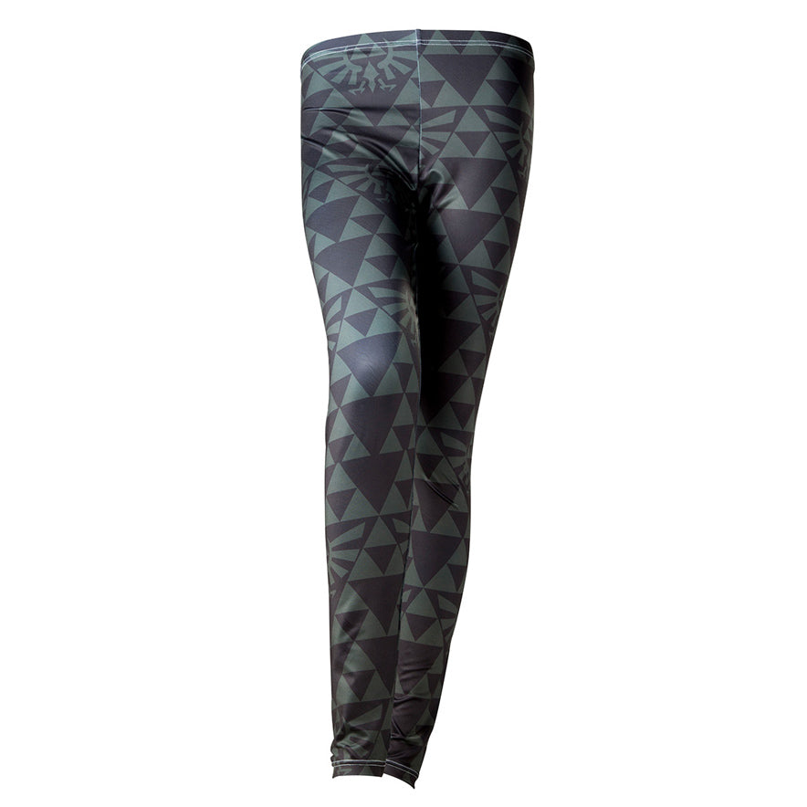 The Legend Of Zelda Hyrule And Triforce Crest Leggings Geekcore