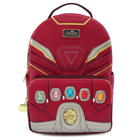Loungefly x Marvel Avengers Iron Man Power Gauntlet Mini Backpack