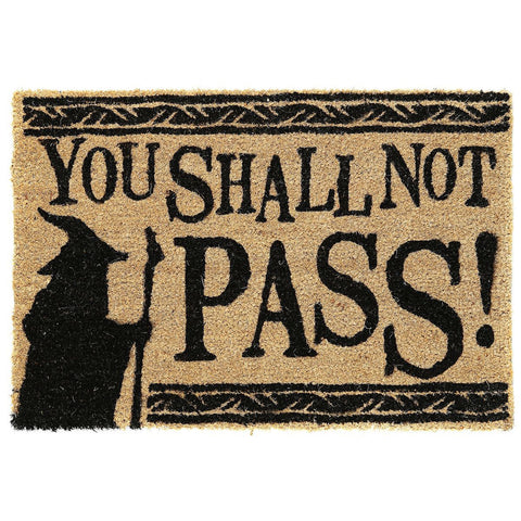 The Lord of the Rings You Shall Not Pass Coir Doormat