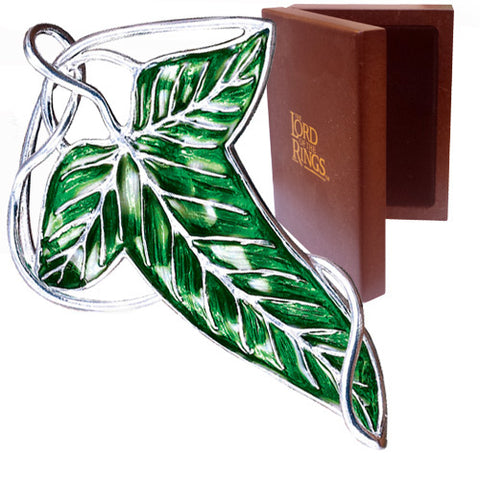 The Lord of the Rings Sterling Silver Elven Leaf Brooch