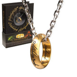 The Lord of the Rings One Ring and Chain (Stainless Steel)