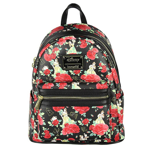 Loungefly x Disney Beauty and the Beast Belle Roses Mini Backpack