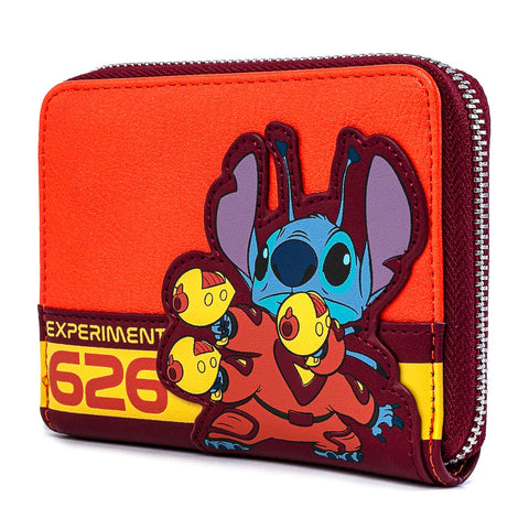 Loungefly X Disney Lilo and Stitch Experiment 626 Zip Around Purse