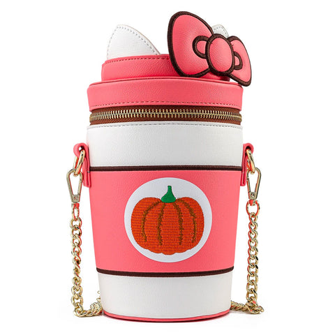 Loungefly x Hello Kitty Pumpkin Spice Latte Cup Crossbody Bag