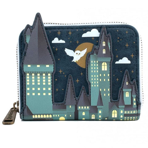 Loungefly x Harry Potter Hogwarts Castle Scene Zip Around Purse