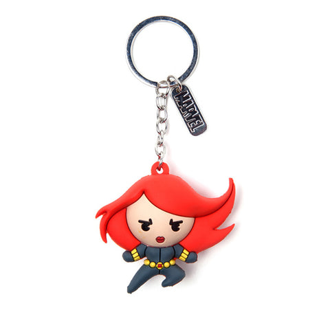 Marvel Black Widow Kawaii 3D Rubber Key Chain
