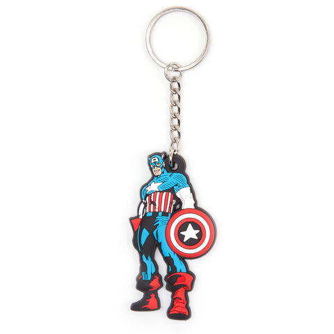 Marvel Captain America Character Rubber Key Chain