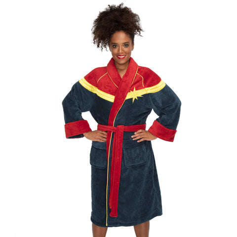 Marvel Captain Marvel Ladies Bathrobe