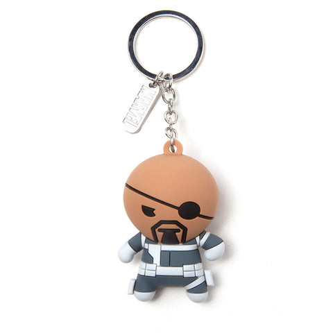 Marvel Nick Fury Kawaii 3D Rubber Key Chain