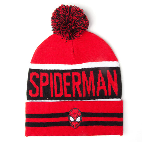 Marvel Spider-Man Red Knit Bobble Hat