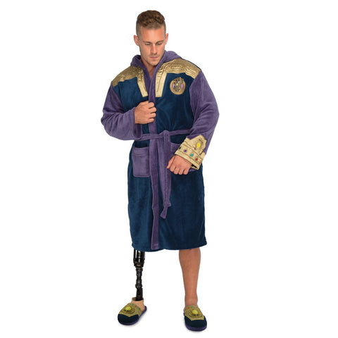 Marvel Avengers Infinity War Thanos Character Bathrobe with Gauntlet