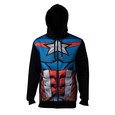 Marvel The Avengers Captain America Sublimated Hoodie