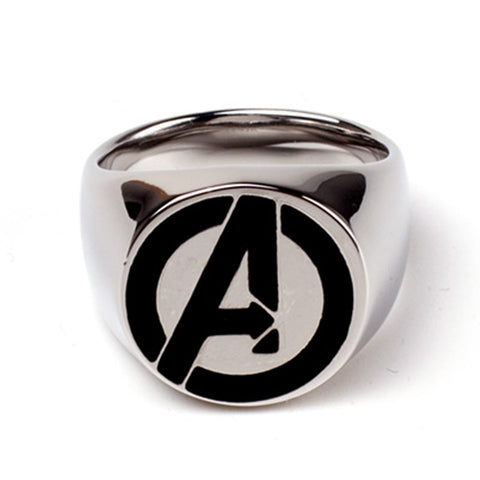 Marvel The Avengers - Avengers Logo Metal Signet Ring