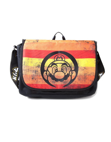 Super Mario Retro Striped Messenger Bag