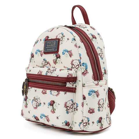 Loungefly x Marvel Spider-Man Floral Mini Backpack