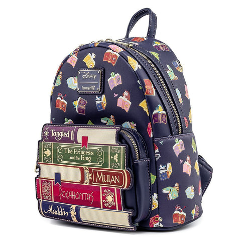 Loungefly x Disney Princess Books All Over Print Mini Backpack
