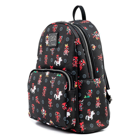 Loungefly x Marvel Deadpool 30th Anniversary All Over Print Mini Backpack