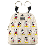 Loungefly x Disney Mickey Mouse Hardware Poses Print Backpack