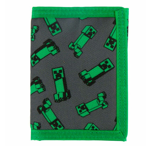 Minecraft Creeper Crowd Trifold Wallet