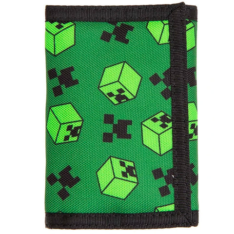 Minecraft Creeper Sweeper Trifold Wallet