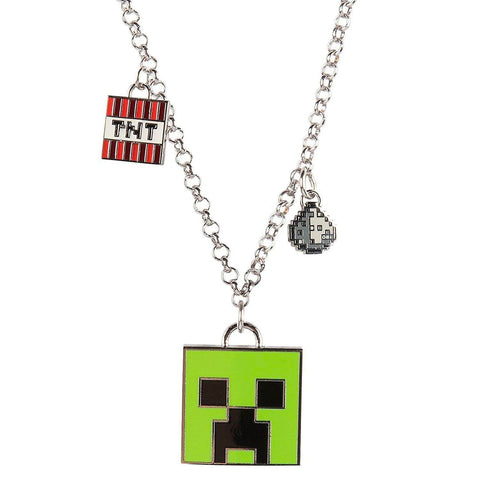 Minecraft Enchanted Creeper Pendant Necklace