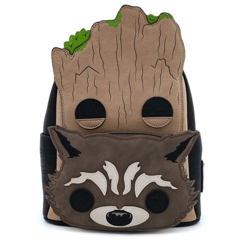Loungefly x Pop! Marvel GotG Groot & Rocket Mini Backpack