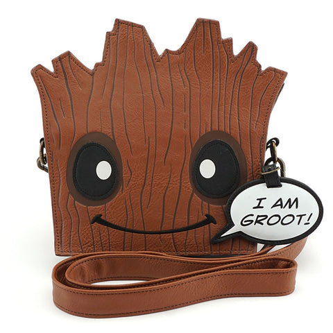 Loungefly x Marvel Groot Die Cut Crossbody Bag