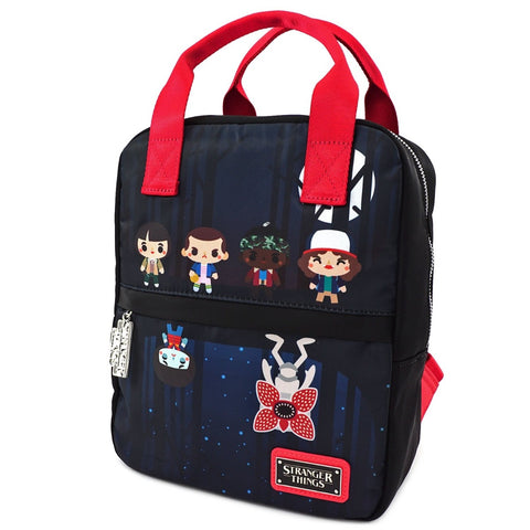 Loungefly x Stranger Things Poly-Nylon Square Chibi Backpack