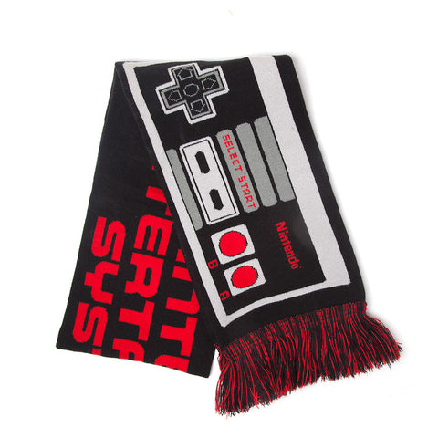 Nintendo NES Controller Knitted Scarf