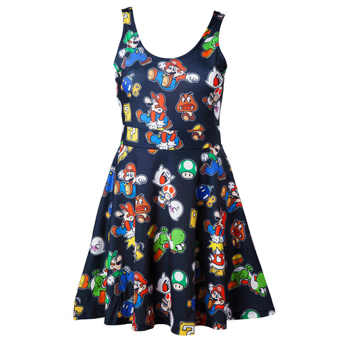 Nintendo Super Mario Icons Skater Dress