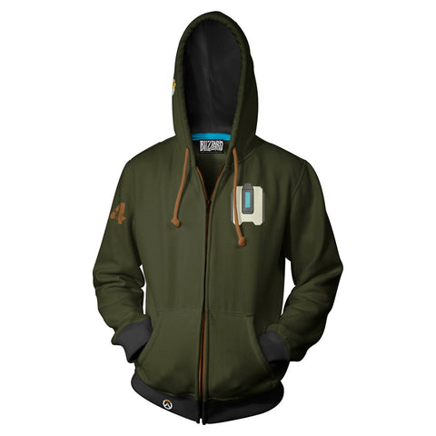 Overwatch Bastion Zip-Up Hoodie