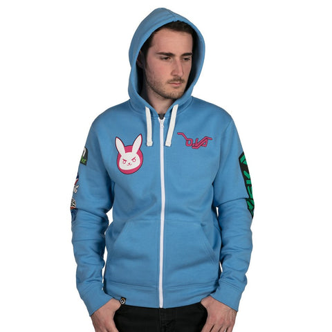 Overwatch D.Va Zip-Up Hoodie (Blue)