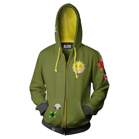 Overwatch Junkrat Zip-Up Hoodie