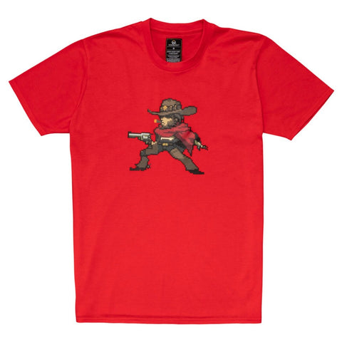 Overwatch McCree Character Pixel Art T-Shirt