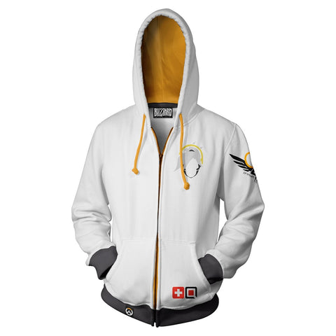 Overwatch Mercy Zip-Up Hoodie
