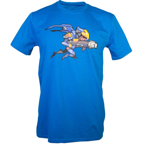 Overwatch Pharah Character Pixel Art T-Shirt