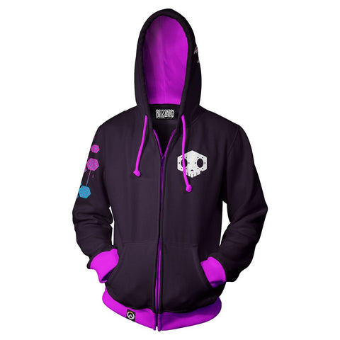 Overwatch Sombra Zip-Up Hoodie