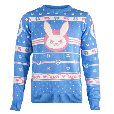 Overwatch D.Va Snow Bunny Knitted Christmas Jumper / Sweater