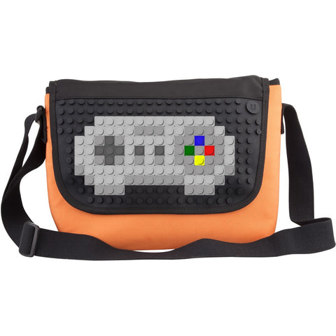 Creative Pixel Fold Over Messenger Bag