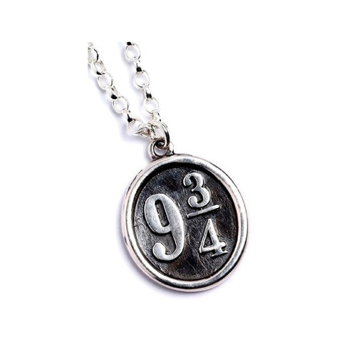 Harry Potter Platform 9¾ Sterling Silver Charm Necklace