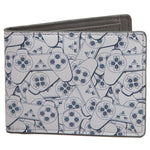 Playstation Controller All Over Print Bi-Fold Wallet
