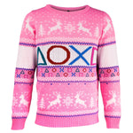 Playstation Pink Knitted Christmas Jumper