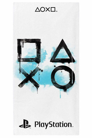 Sony Playstation Inkwash Cotton Beach Towel